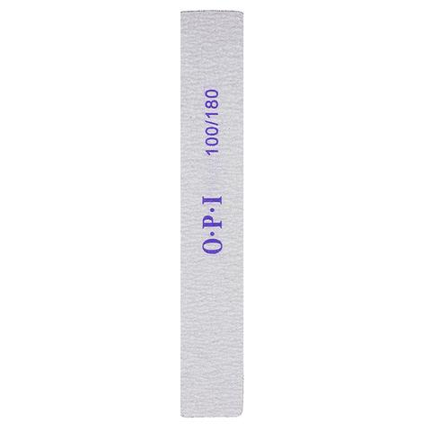 Пилка O.P.I. прямоугольная широкая 100/180 грит (1 шт.)