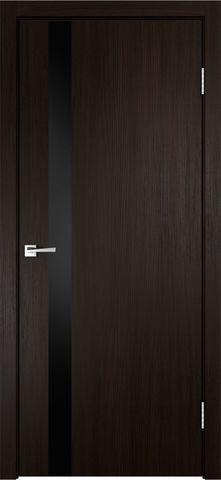 > Экошпон VellDoris Smart-Z1, стекло лакобель чёрное, цвет венге, остекленная