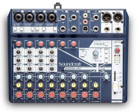 SOUNDCRAFT Notepad-12FX компактный микшерный пульт