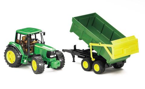 Bruder: Трактор John Deere 6920 с прицепом 02-058 — Брудер