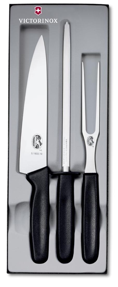 Набор Victorinox кухонный, 3 предмета, черный