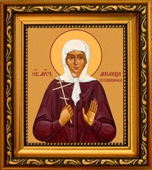 Милица Кувшинова святая мученица. Икона на холсте.