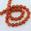 Бусина Агат (тониров), шарик с огранкой, цвет - янтарно-коричневый, 10 мм, нить