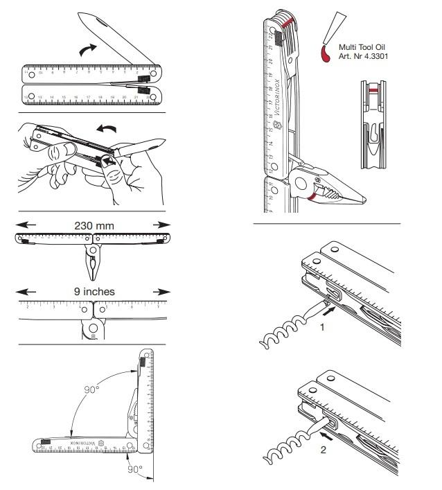 Мультитул Victorinox SwissTool (3.0327.L1) 115 мм. в сложенном виде, кожаный чехол с поворотной клипсой - Wenger-Victorinox.Ru