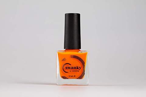 Лак для стемпинга Swanky Stamping №017, неоново-оранжевый , 10 мл.