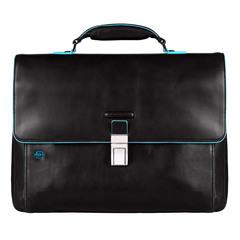 Портфель Piquadro Blue Square, черный, 41х30х10 см