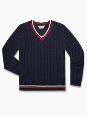 BSW000795 свитер детский, темно-сине/красный