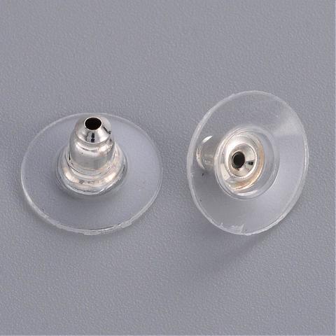 Заглушка для серег цвет серебро 1 пара