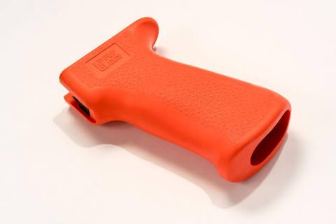 Пистолетная рукоятка Pufgun прорезиненная оранжевая