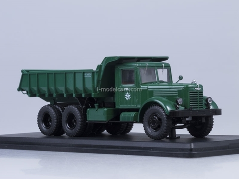 YaAZ-210E dump metal chassis body and cab dark green Start Scale Models (SSM) 1:43