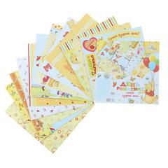 Набор бумаги Дисней 14,5*14,5 см 12 листов 160 гр/м.