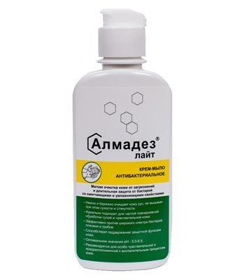 Антибактериальное мыло Алмадез-лайт, 200 мл., крышка флип-топ Алмадез-лайт_-0.2л.jpg