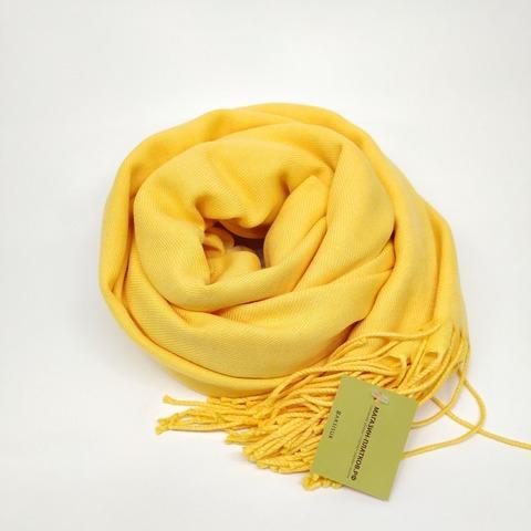 Палантин кашемир жёлтый 32-1