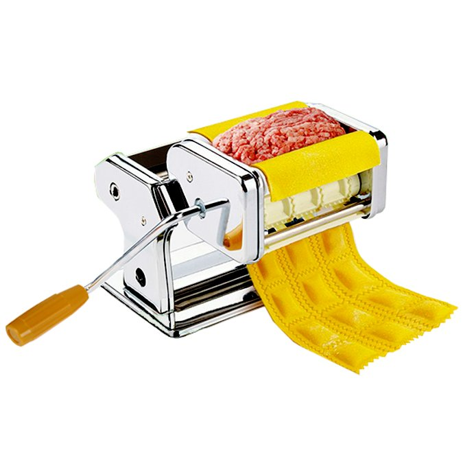 Кухонная техника Машинка для раскатывания теста и приготовления равиоли Gusto Pasta Machine and Ravioli Maker 766a090108fe789a562acd92d76bbe0d.png
