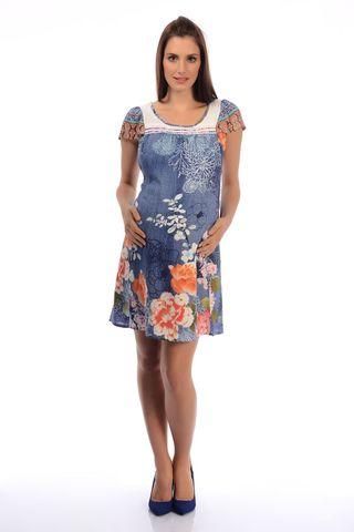 Платье 06008 синий