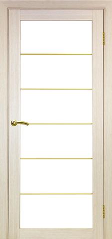 > Экошпон Optima Porte Турин 501АСС молдинг SG, стекло матовое, цвет беленый дуб, остекленная