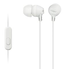 Наушники Sony MDR-EX15AP белые внутриканальные с микрофоном