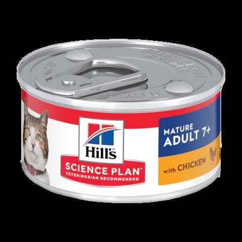 Hill's Science Plan Active Longevity Senior 7+ Консервы для пожилых кошек для поддержания здоровья в процессе старения с курицей (паштет)