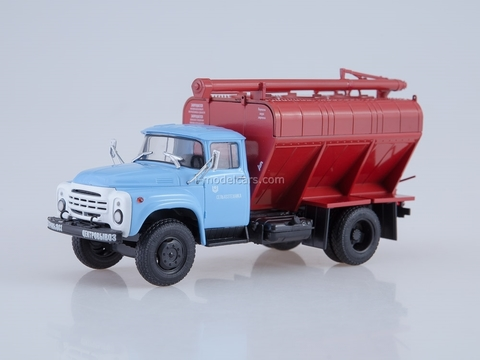 ZIL-130 late design radiator Loader of dry feeds ZSK-10 blue-red 1:43 AutoHistory