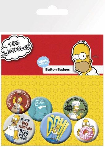 Набор значков The Simpsons