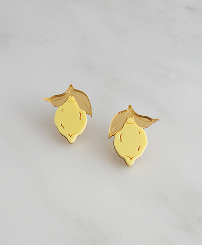 Серьги Mini Lemon Studs