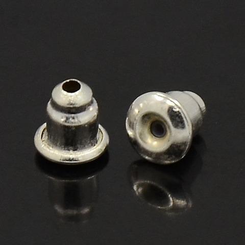 Заглушка для серег цвет серебро 1пара