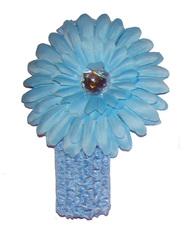 Повязка с цветком ID-04, голубой
