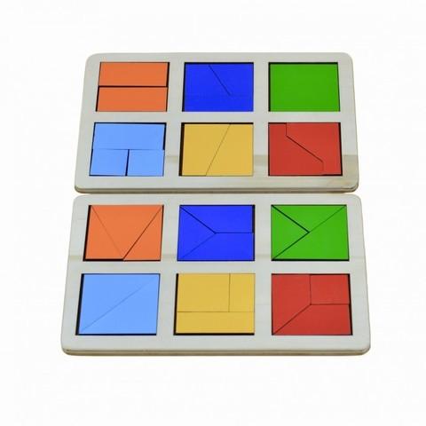 Логическая игра Сложи квадрат Б.П. Никитин уровень 1, RadugaKids (Радуга Кидс)