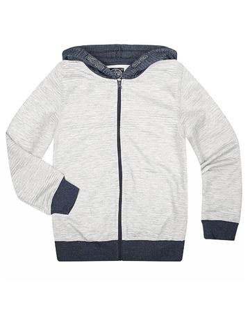 BAC004370 джемпер детский, серый меланж/синий