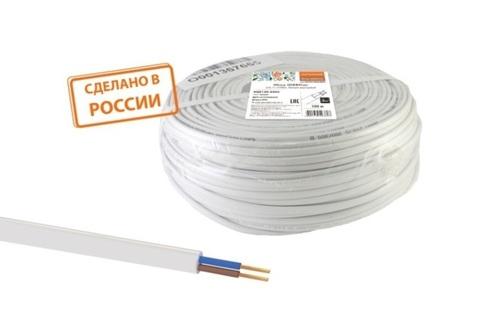 Провод ПГВВП 2х1,5 ГОСТ (100м), белый TDM