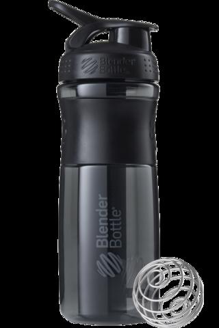 BlenderBottle SportMixer, Универсальная Спортивная бутылка-шейкер с венчиком.  Black-Black-черный-черный 828 мл cat
