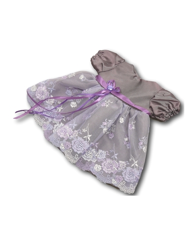 Платье из тафты - Лиловый 1. Одежда для кукол, пупсов и мягких игрушек.
