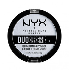 NYX Пудровый хайлайтер для лица Duo Chromatic Illuminating Powder