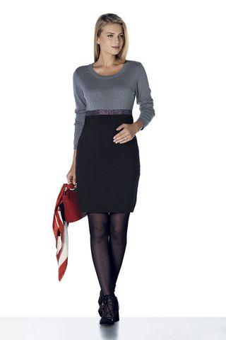 Платье 08121 черный/серый