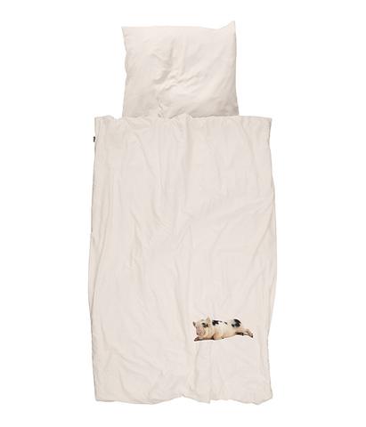 Комплект постельного белья Поросенок розовый 150x200см, Snurk