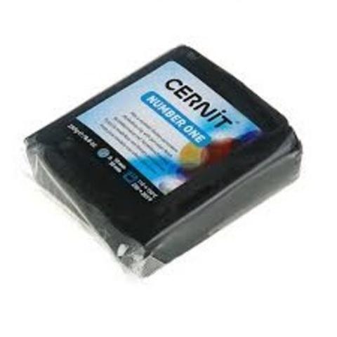 Полимерная глина CERNIT NUMBER ONE 250г, черный 100.