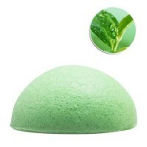 Konjac Sponge, Натуральный конжаковый спонж с экстрактом зеленого чая