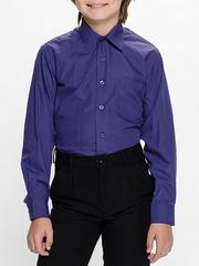873-2 рубашка для мальчиков, темно-синяя