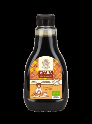 Organica for all Органический сироп агавы со вкусом кленового сиропа (660 г.)