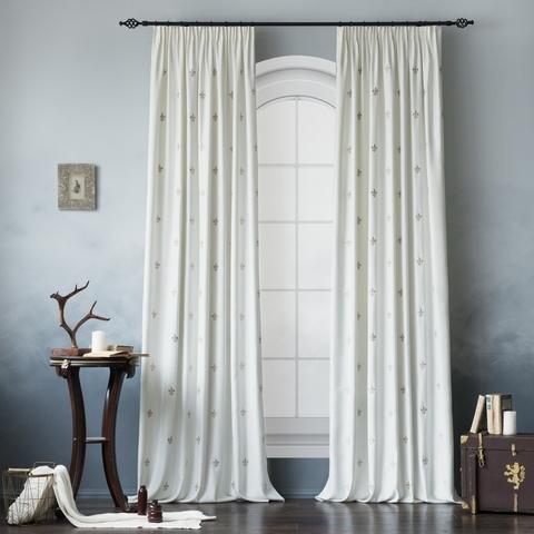 Комплект штор с подхватами Ливьера белый