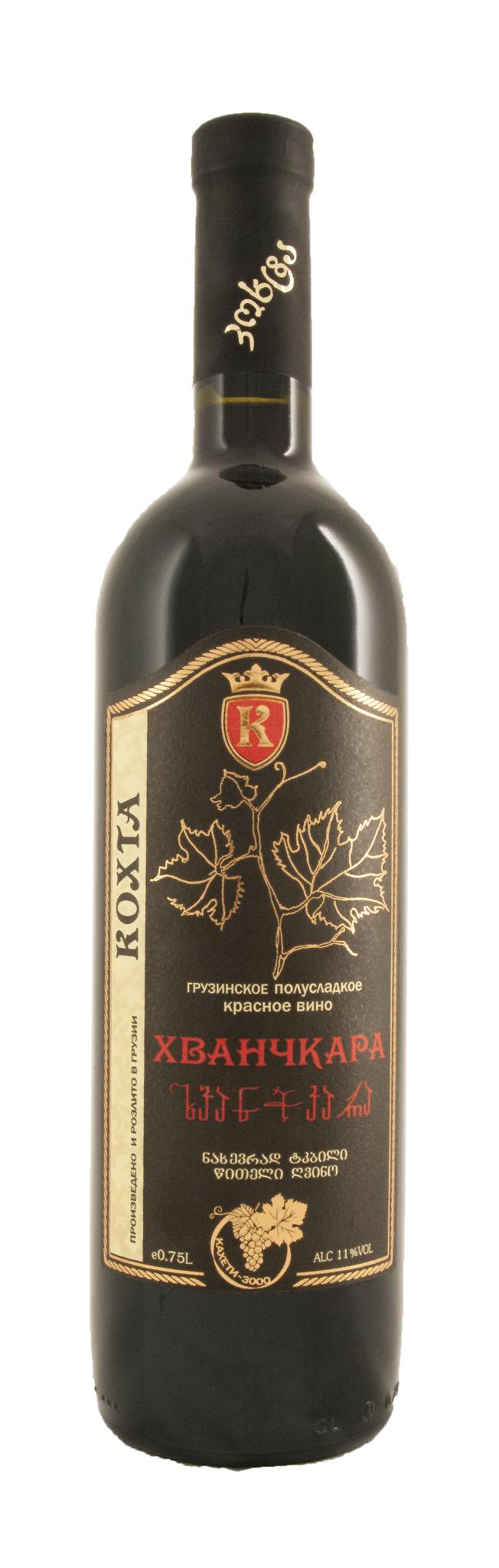 Вино Хванчкара красное п/сл. 0,75 л рег. Кахетия (6)