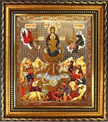 Живоносный источник Пресвятой Богородицы.  Печатная икона