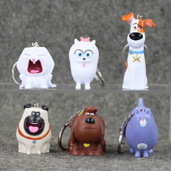 Брелоки героев из мультфильма Тайная жизнь домашних животных