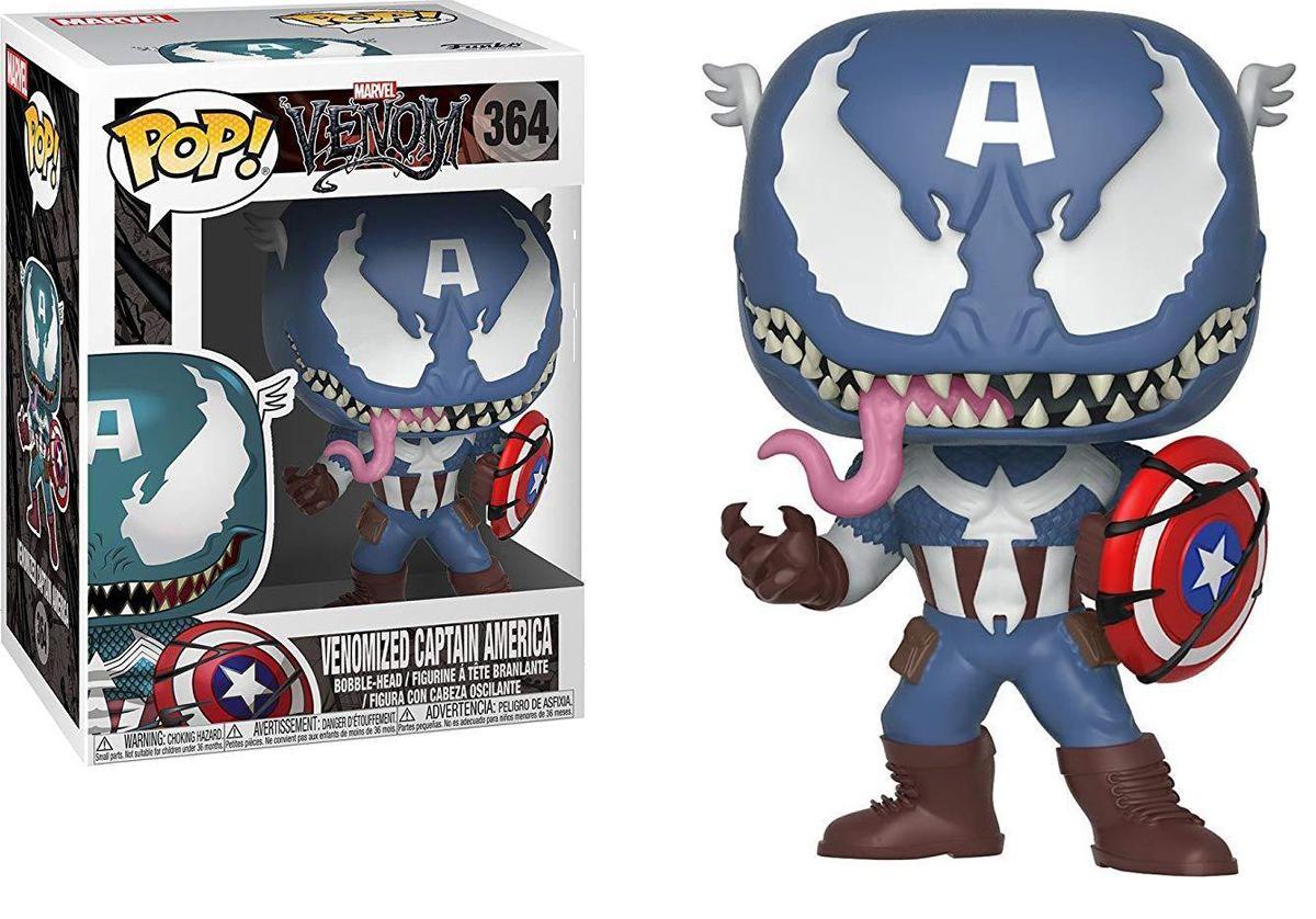 Фигурка Funko POP! Bobble: Marvel: Venom: Venom/Captain America 32686