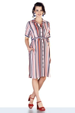 Платье для беременных 10207 полоска