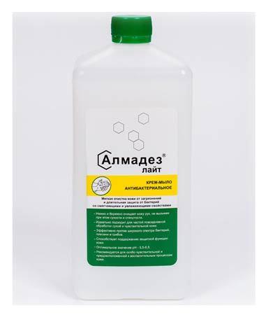 Антибактериальное мыло Алмадез-лайт, 1 л., крышка (Крем мыло) Алмадез-лайт_-1л.jpg
