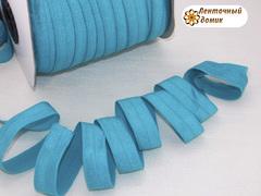 Резинка для повязок бирюзовая ширина 16 мм