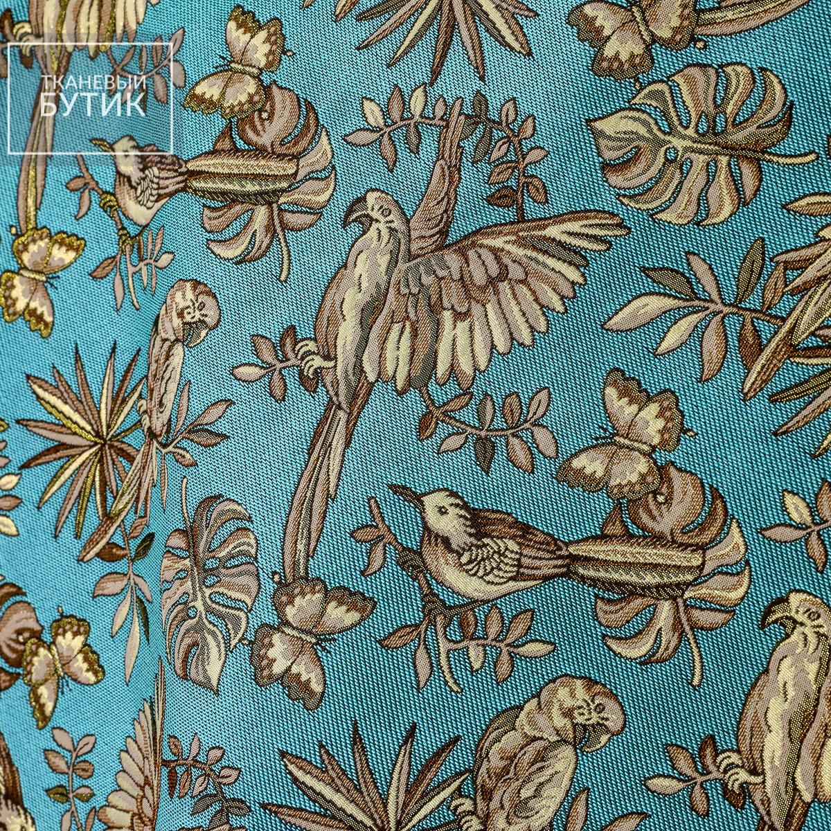 Жаккард с попугаями