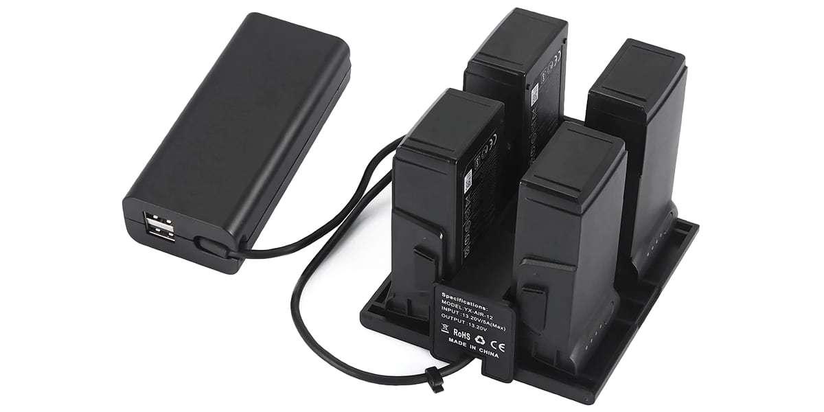 Концентратор хаб для заряда батарей DJI Mavic Air Battery Charging Hub (PART 2) с блоком питания