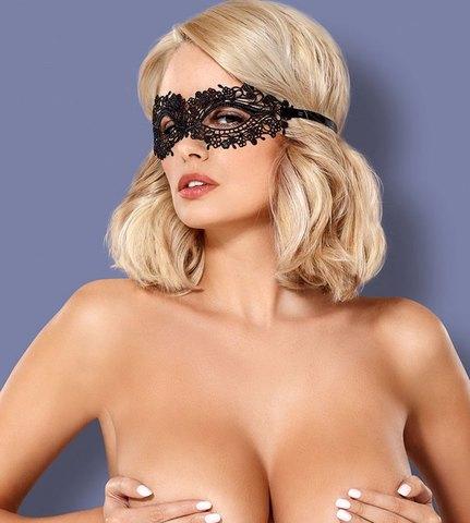 Ажурная фантазийная маска для глаз Obsessive